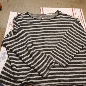 NWOT Eileen Fisher Linen Cotton Striped Sweater